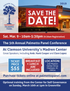 "EVENT – Fifth Annual ""Palmetto Panel Conference"""